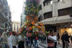 Bloemen tijdens La Ofrenda